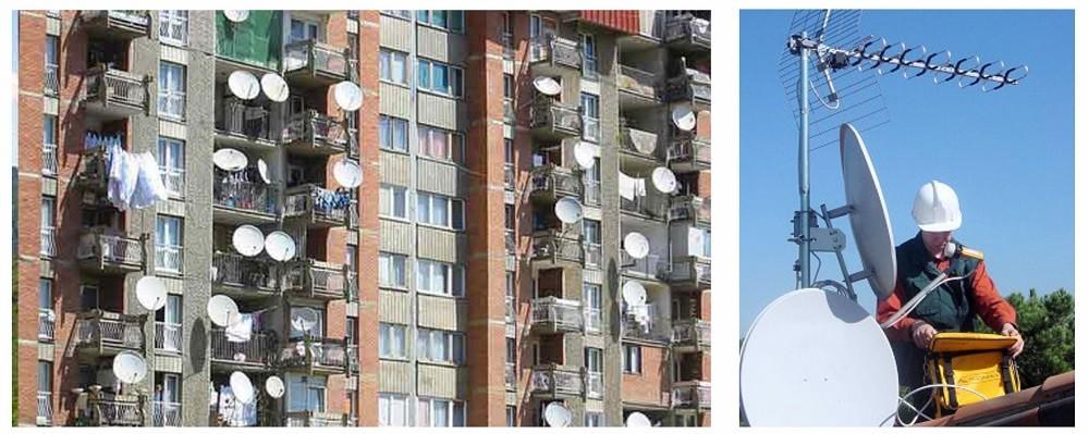 Установка антенн спутникового тв в Самаре